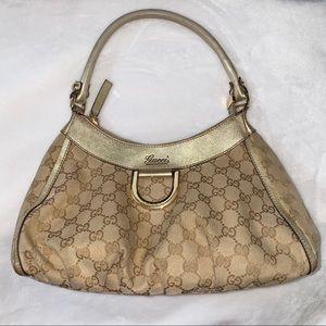Gucci Abbey Rare Guccissima D Ring Hobo Bag